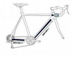 Protection de cadre de vélo - Pack S (special route)