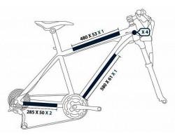 Protection de cadre de vélo - Pack M (cross-country)