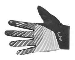 Gants longs Liv Tangle noir/blanc