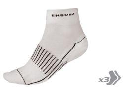 Chaussettes Race coolmax II blanche (lot de 3) Endura