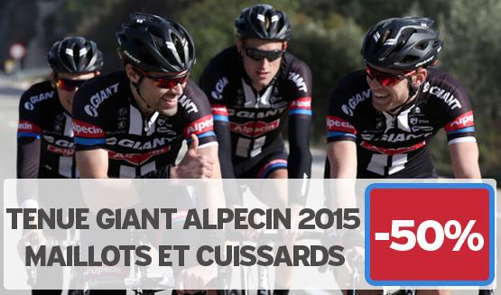 -50% sur la gamme Giant Alpecin 2015 en vente sur notre site www.velocity.fr et dans notre store Giant Caen