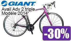 Destockage Giant avail 2 triple modéle 2014 en promotion -30%