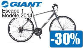 Destockage Giant escape 1 modéle 2014 en promotion -30%