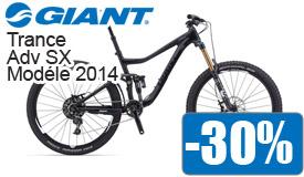 Destockage Giant Trance Advanced SX modéle 2014 en promotion -30%
