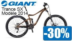 Destockage Giant Trance SX modéle 2014 en promotion -30%