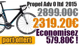Profitez de notre offre de destockage Giant 2015 de 20 a 30% de remise sur une selection de vélo. Propel advanced 0 Ltd 2015 Giant sur notre site velocity.fr et notre store Giant Caen