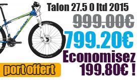 Profitez de notre offre de destockage Giant 2015 de 20 a 30% de remise sur une selection de vélo. Talon 27.5 0 LTD Giant sur notre site velocity.fr et notre store Giant Caen