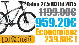 Profitez de notre offre de destockage Giant 2015 de 20 a 30% de remise sur une selection de vélo. Talon 27.5 RC LTD Giant sur notre site velocity.fr et notre store Giant Caen