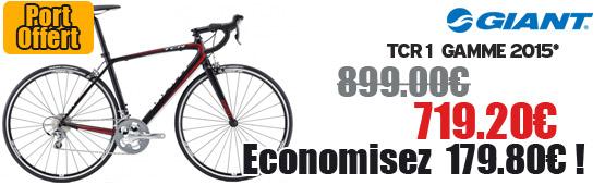 Profitez de notre offre de destockage Giant 2015 de 20 a 30% de remise sur une selection de vélo. Tcr 1 compact 2015 Giant sur notre site velocity.fr et notre store Giant Caen