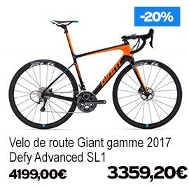 Destockage gamme Giant et Liv 2017 vélo de route VTT vélo de ville vélo electrique , de 15% a 30% de remise sur une selection de vélos , a decouvrir a caen fleury-sur-orne dans notre Giant Store Caen - defy advanced sl1 giant