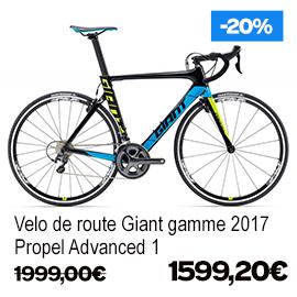 Destockage gamme Giant et Liv 2017 vélo de route VTT vélo de ville vélo electrique , de 15% a 30% de remise sur une selection de vélos , a decouvrir a caen fleury-sur-orne dans notre Giant Store Caen - propel advanced 1 giant