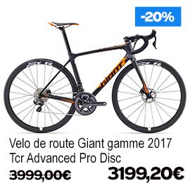 Destockage gamme Giant et Liv 2017 vélo de route VTT vélo de ville vélo electrique , de 15% a 30% de remise sur une selection de vélos , a decouvrir a caen fleury-sur-orne dans notre Giant Store Caen - tcr advanced pro disc giant