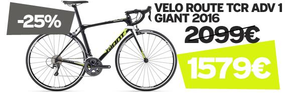 -25% sur Tcr advanced 1 Giant 2016 sur notre site velocity.fr et dans notre Giant Store Caen