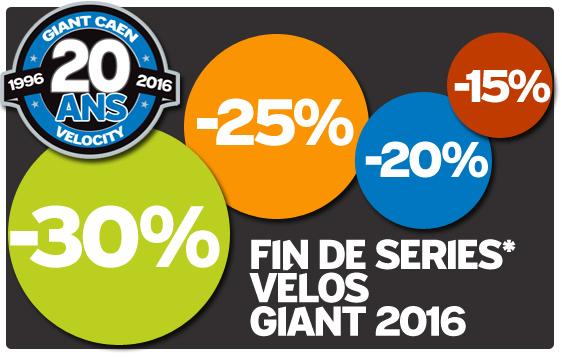*Fin de series vélos Giant 2016, De -30% a -15% sur une selection de vélos Giant 2016  dans la limite des stocks disponibles, Operation dans Giant store Caen renseignez-vous au  02.31.34.45.36 propel , tcr , defy , reign , trance , xtc advanced , envie , intrigue , lust