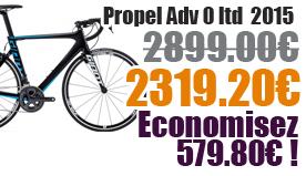 Promotion Giant 2015 - Profitez de notre offre de destockage Giant 2015 de 20 a 30% de remise sur une selection de vélo. Propel Adv 0 Ltd Giant sur notre site velocity.fr et notre store Giant Caen