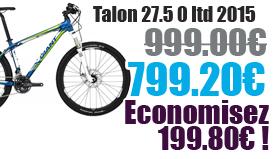 Promotion Giant 2015 - Profitez de notre offre de destockage Giant 2015 de 20 a 30% de remise sur une selection de vélo. Talon 27.5 0 Giant sur notre site velocity.fr et notre store Giant Caen