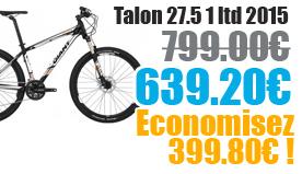 Promotion Giant 2015 - Profitez de notre offre de destockage Giant 2015 de 20 a 30% de remise sur une selection de vélo. Talon 27.5 1 Giant sur notre site velocity.fr et notre store Giant Caen