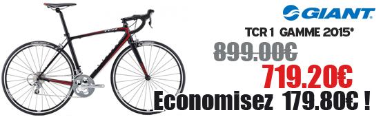 Promotion Giant 2015 - Profitez de notre offre de destockage Giant 2015 de 20 a 30% de remise sur une selection de vélo. Tcr 1  Giant sur notre site velocity.fr et notre store Giant Caen