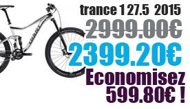 Promotion Giant 2015 - Profitez de notre offre de destockage Giant 2015 de 20 a 30% de remise sur une selection de vélo. trance 1  Giant sur notre site velocity.fr et notre store Giant Caen